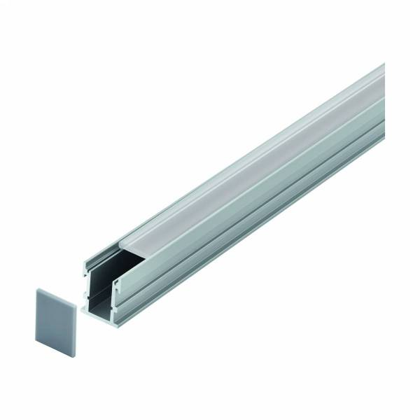 LED-Stripe Profile RE satin cover, anodized, 1000mm