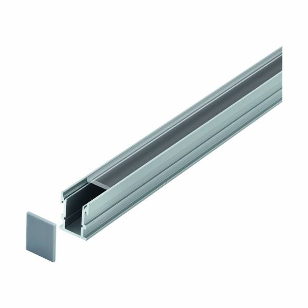 LED-Stripe Profile RE Clear cover, anodized, 3000mm