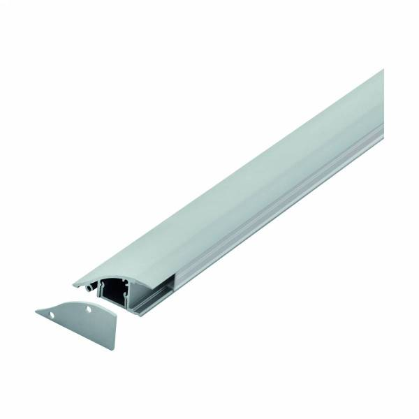 LED-Stripe wall surface Profile,satin cover, anodized,2000mm