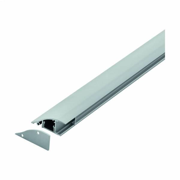LED-Stripe wall surface Profile,Clear cover, anodized,1000mm