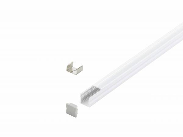 LED-Stripe Profile RE satin Cover white, 2000mm