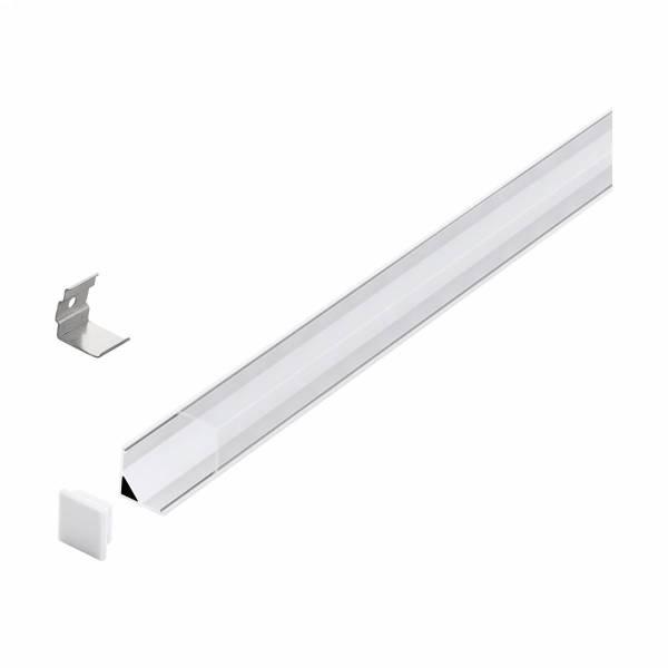 LED-Stripe Corner Profile Clear Cover white, 3000mm