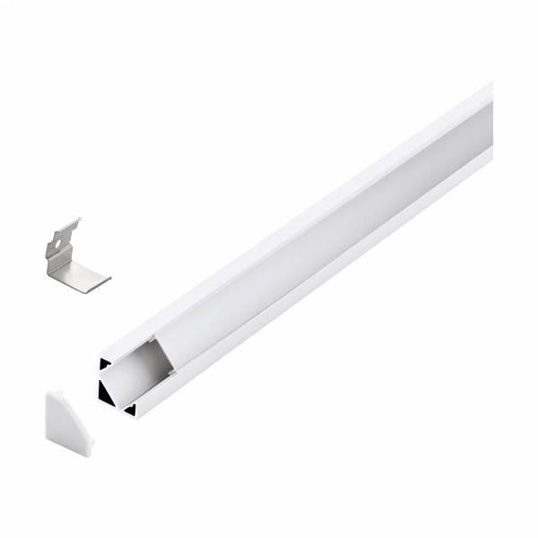 LED-Stripe Corner Profile satin Cover white, 3000mm