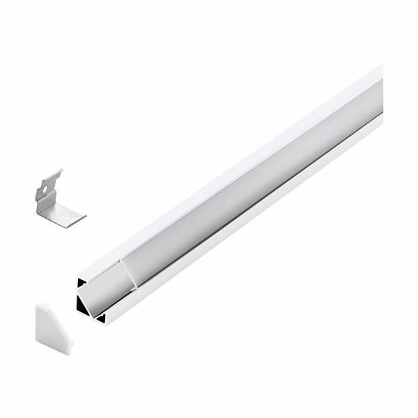 LED-Stripe Corner Profile Clear Cover white, 1000mm