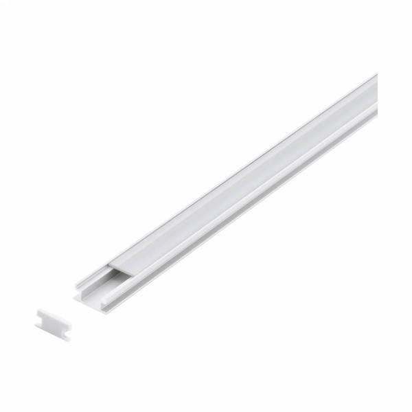 LED-Stripe Floor Recessed Profile, satin cover, 1000mm