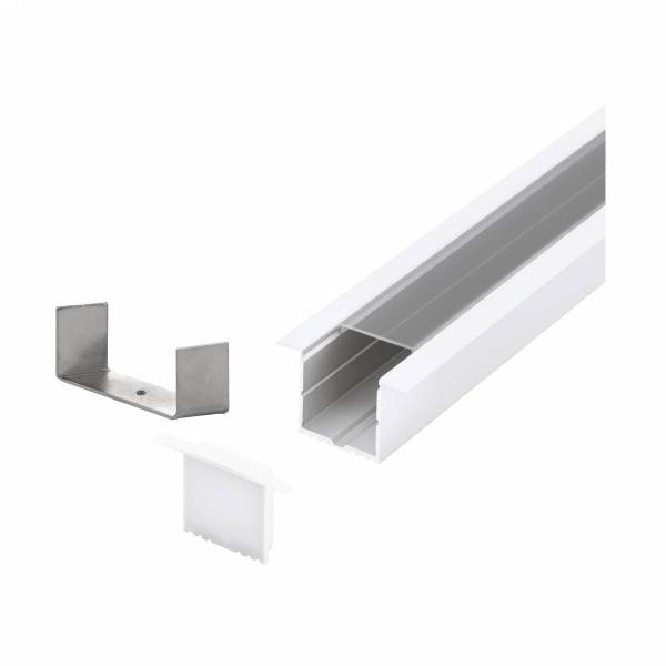 LED-Stripe Profile RE Clear Cover white, 1000mm