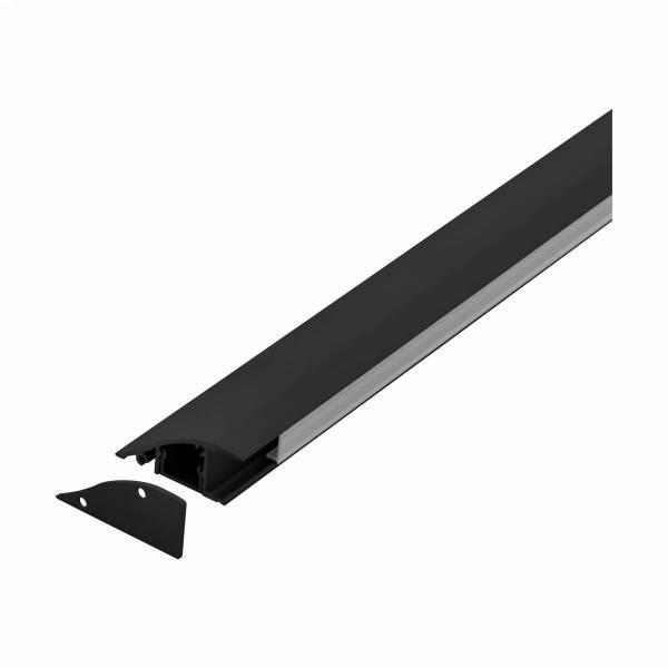 LED-Stripe WMP satin Cover black, 2000mm