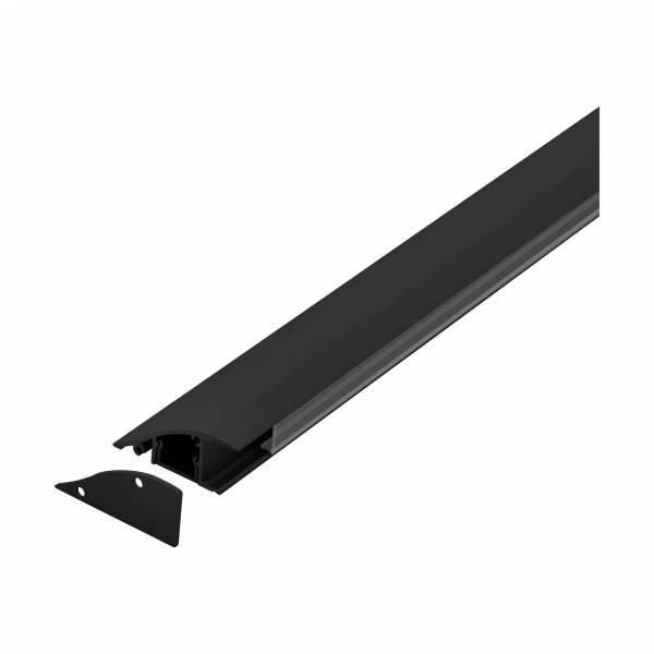 LED-Stripe WMP Clear Cover black, 1000mm