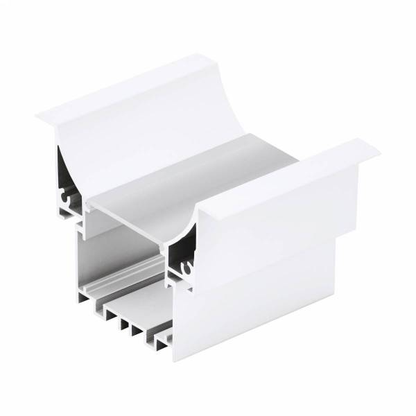 LED-Stripe Profile RE Clear Cover white, 2000mm