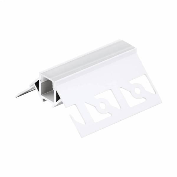 LED-Stripe TB Profile / corner outside, satin cover, 2000mm