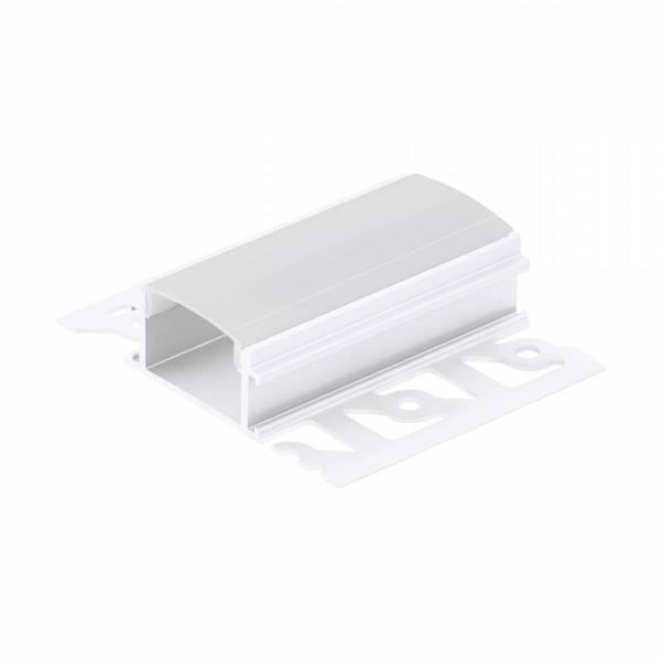 LED-Stripe Tiles Profile satin Cover white, 2000mm