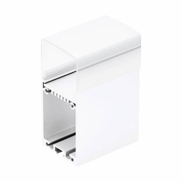 LED-Stripe Profile RE satin Cover white, 2000mm