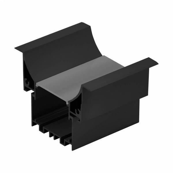 LED-Stripe Profile RE satin Cover black, 1000mm