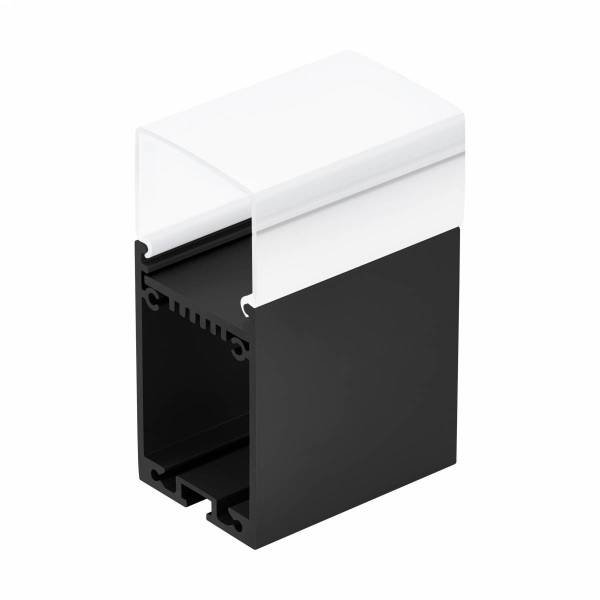 LED-Stripe Profile RE satin Cover black, 2000mm