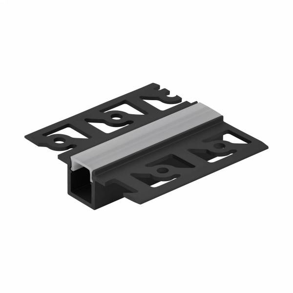LED-Stripe TB Profile satin Cover black, 1000mm