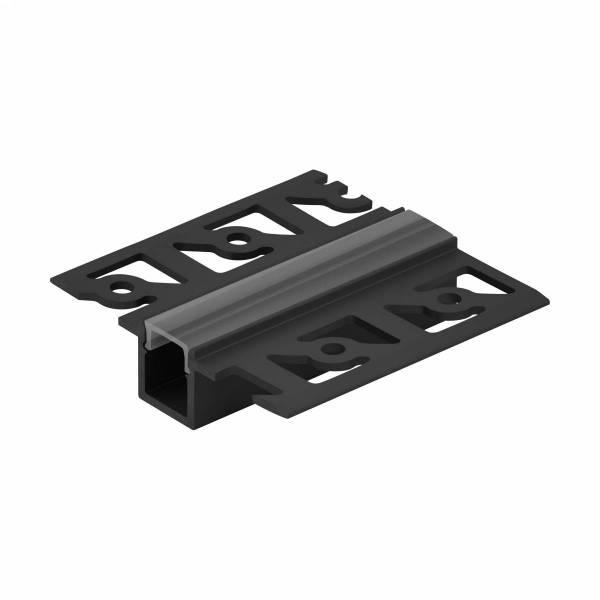 LED-Stripe TB Profile Clear Cover black, 2000mm