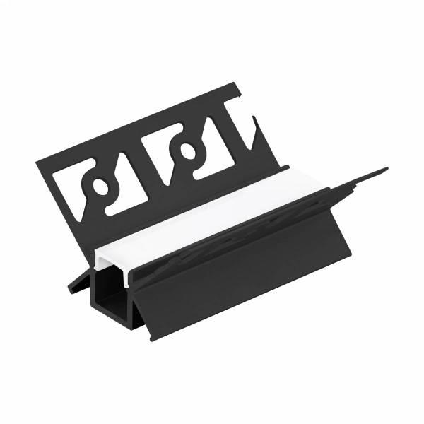 LED-Stripe TB Profile/Corner inside, opal Abd. black, 1000mm