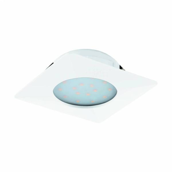 Pineda square / fixed 12W 3000K white IP20
