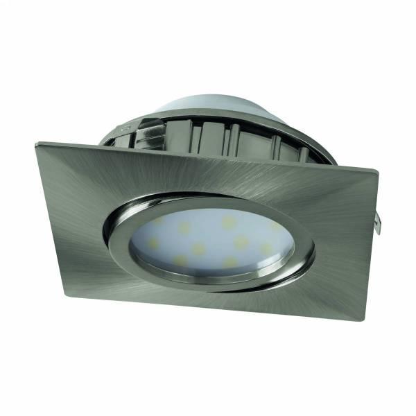 Pineda square 6W 3000K nickel-matt IP20