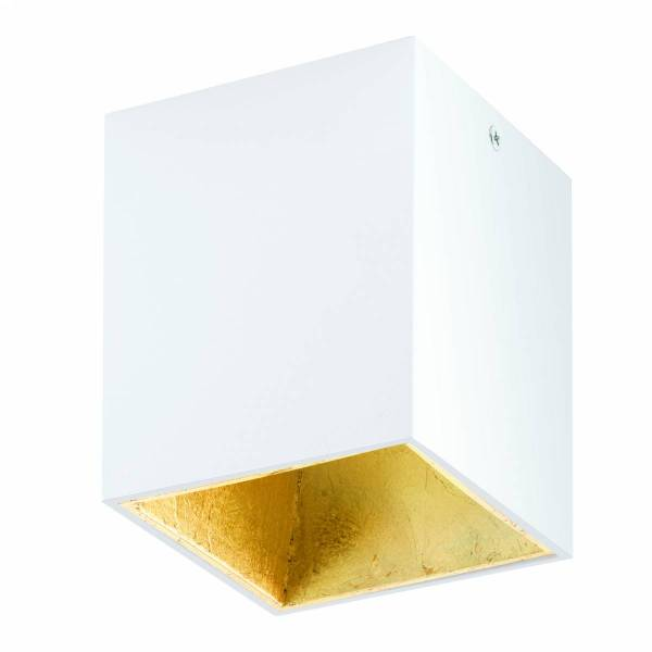 Polasso square 3,3W 3000K white gold IP20