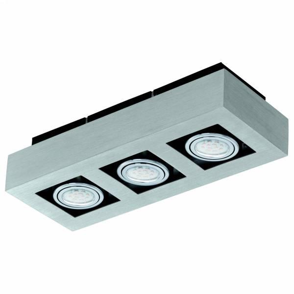 "surface luminaire ""Loke 1"" 3x5W 3000K aluminium brushed IP20"
