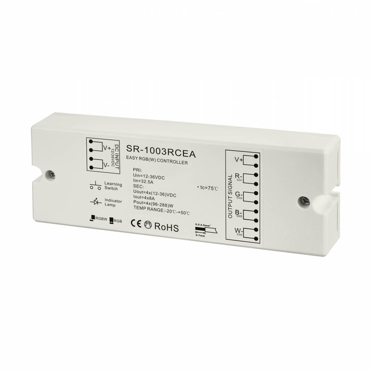 LED RF Controller RGBW receiver 4x8A 768W 24V 768W IP20