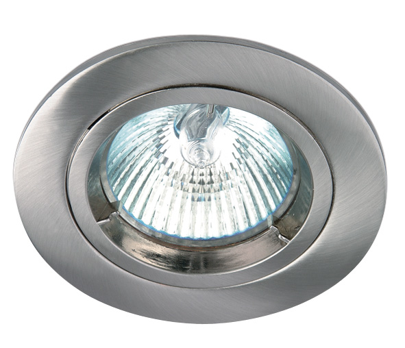 Punto-F MR16 Spot, GU5,3, 50W, IP20, 12V, brushed chrome