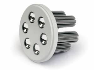 10106NA/AL/W/35, R111 ALUMINIUM LED WW 6x3w 35d