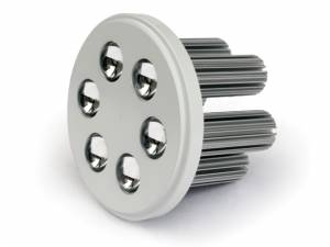 10106NA/W/D/35, R111 WHITE LED DAYL 6x3w 35d