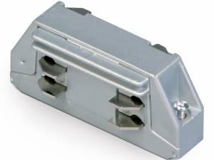3PH- connector longitudinal, grey, Serie BLUE LINE ROUND