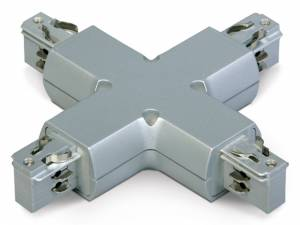 "3PH- ""X"" connector, grey, Serie BLUE LINE ROUND"