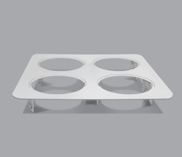 51400AR/G, GREY 4L SQUARE BASE BOXTECH+  ROUNDED EDGES
