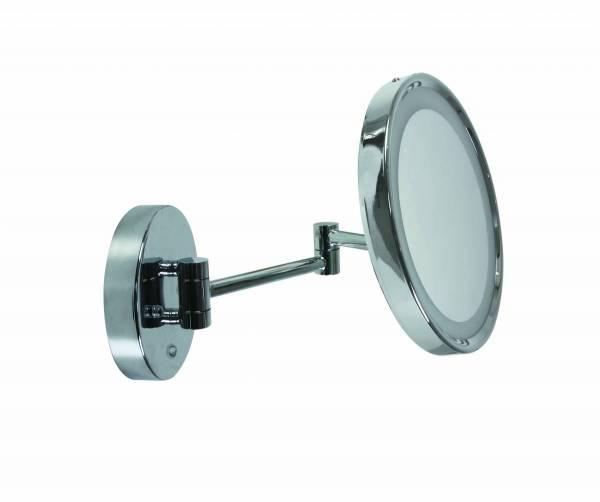 Mirror with 7W LED light, 4000K, 490lm, 230V, IP44, chrom