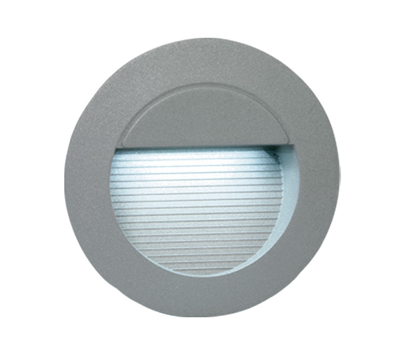 Cave Round LED wall lamp, 14x0,1W, 3000K, IP54, grey