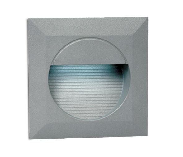 Cave Square LED 1,4W, 3000K, 230V, IP54, grey, incl. driver