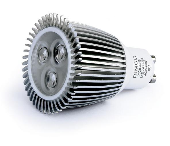 7308GD/D/45, LED 7w Dimmable GU10 DL 45deg