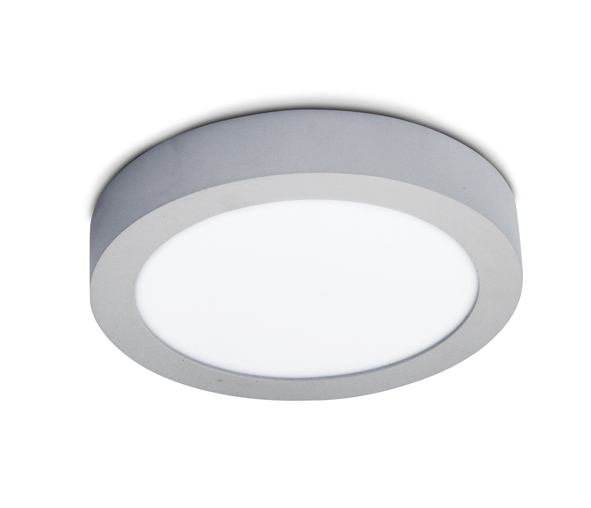 Plano Round LED Plafo, 16W, 4000K, 1118lm, IP40, grey