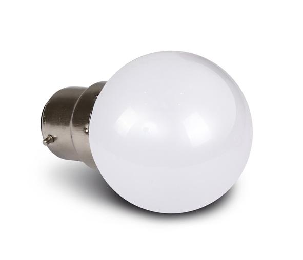 9G01/W/B, WW LED BALL LAMP 0,5w B22 230v