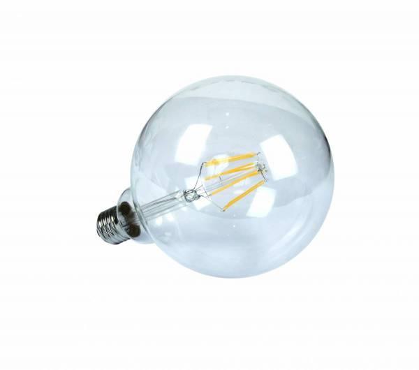 LED Globe lamp 7W, 2700K, 600lm, E27, 230V, G125, klar