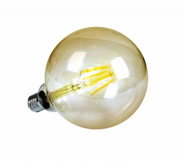 LED Globe lamp 7W, 2200K, 520lm, E27, 230V, Amber, G125