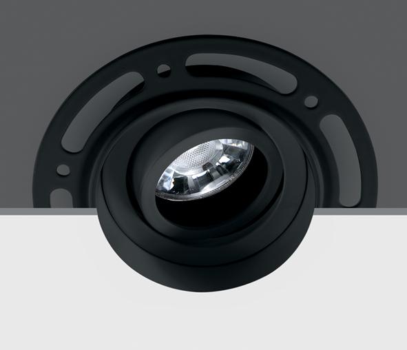 INA-R/T GU10 MR16, GU10, trimless, IP20, Black