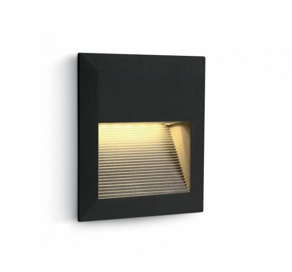 Cave Square LED 1.5W, 3000K, 230V, IP54, black