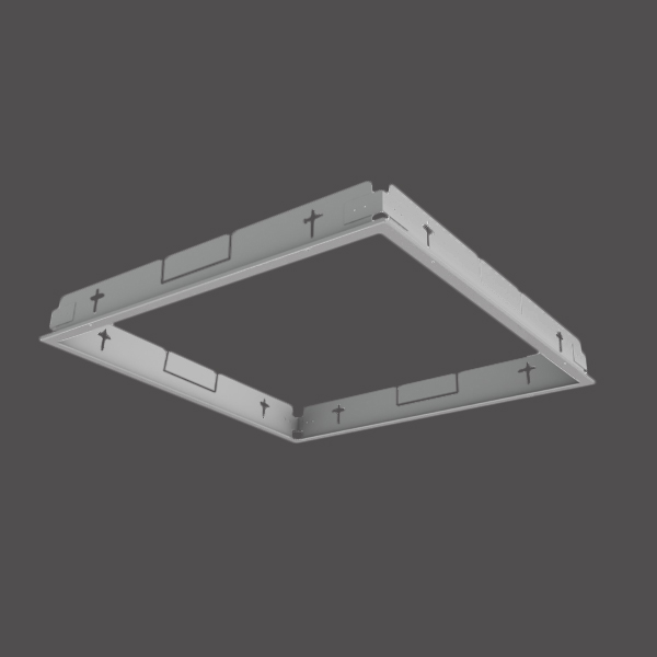 Mounting frame for plasterboard for Selena LED 595x595 white