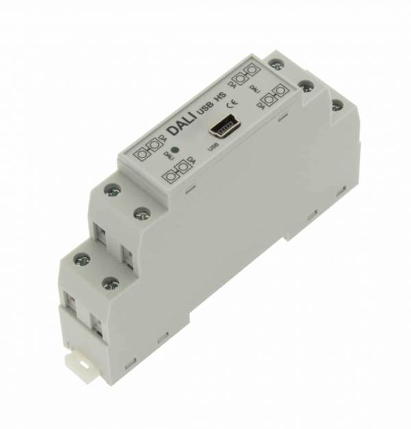 DALI USB DIN Rail mounting