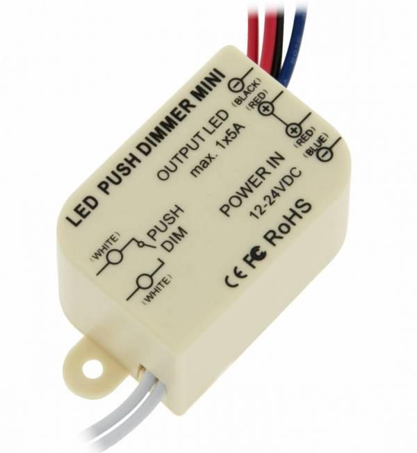 LED Push Dimmer Mini Mono
