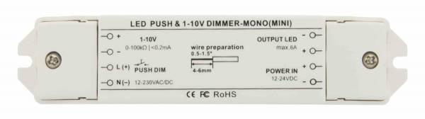 LED Push & 1-10V Dimmer Mini Mono