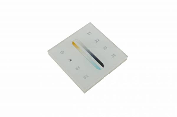 LED RF WiFi Controller Touch DW - 4 zones - white