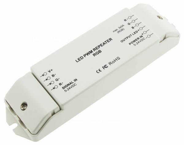 Repeater PWM RGB LED, 3x5A, 180W/12V, 360W/24V