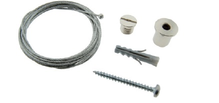 Wire suspension 5m with 1mm strong wire and 3mm ball