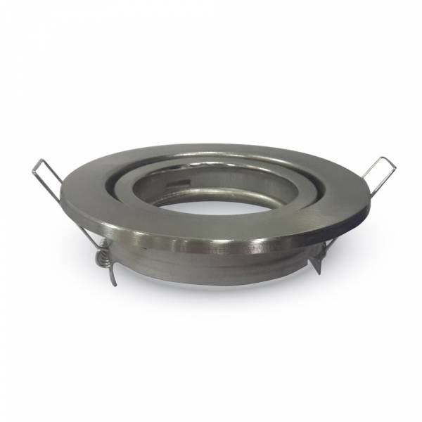Recessed spot GU10 round, adjustable, satin nickel